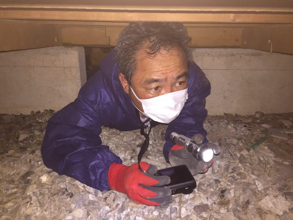 木造一戸建ての耐震診断調査を実施:大村市K町