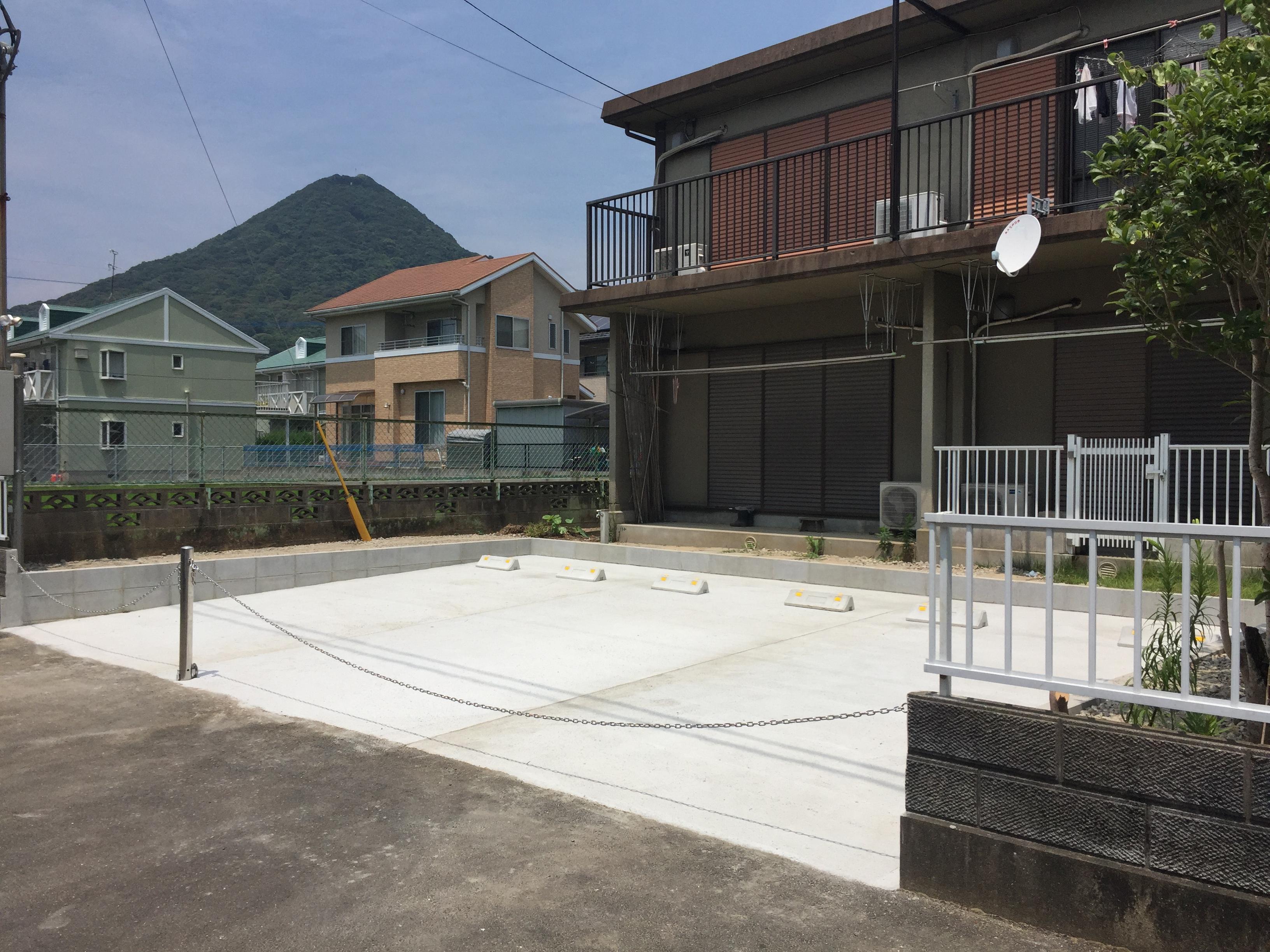 お庭に駐車場リフォーム工事をやってきました。完成【佐世保市S町】