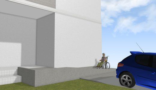佐世保市もみじが丘町で玄関前スロープ工事の現地調査に行ってきました