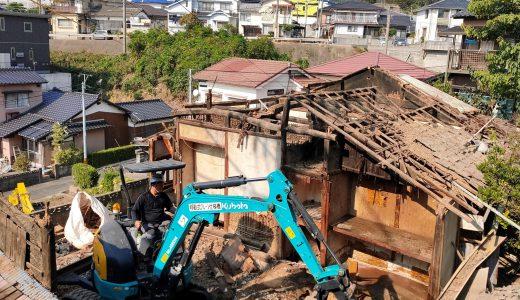 佐世保市大宮町で中古住宅の解体工事を行いました